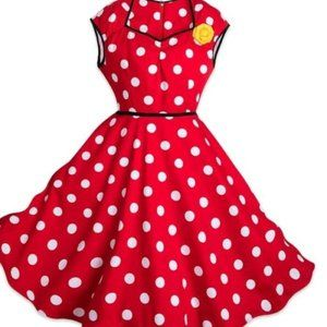 Disney Dress Shop Minnie Mouse Polka Dot Flower